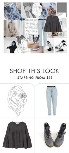 """""""21:07"""" by silvia-pbx ❤ liked on Polyvore featuring PBteen, Kenzie, River Island, MANGO and Dr. Martens"""
