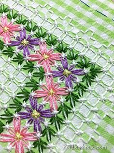 Chicken Scratch / Gingham Lace Article Index  Years ago I did Chicken Scratch embroidery and never ran into the designs and ideas like I'm seeing these days courtesy of Pinterest. Here you get links to more tips and tutorials.