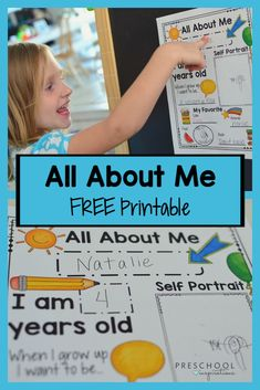 Get a FREE printable All About Me poster! Several options to choose from. Great for an All About Me preschool theme, back to school, or just marking those treasured milestones. All About Me Preschool Theme, All About Me Activities, Preschool Writing, Free Preschool, Preschool Themes, Preschool Printables, Preschool Worksheets, Preschool Charts, Free Printables