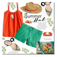 Summer Hat by truthjc on Polyvore featuring polyvore, fashion, style, J.Crew, Anuschka, Mark Davis, Taylor Black, Roxy, clothing and summerhat