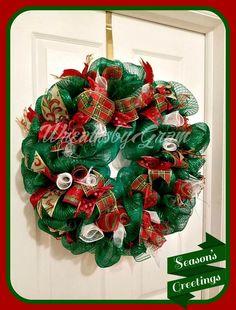 Christmas Wreath; Holiday Wreath; Deco Mesh Wreath; Christmas Decorations; Christmas presents; christmas ideas; Christmas Gifts; Front Door Wreath; Holiday Decor; Christmas Decor; Interior Decorating; Christmas Gift Ideas; Housewarming Gift; #christmaswreath #giftideas #christmaspresent #holidaydecor #wreaths #seasonaldecor #christmasgift #wreathsbygram #doorhanger