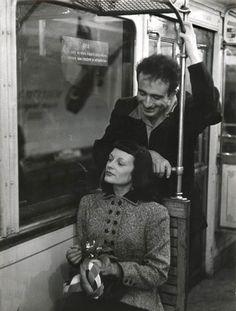 France. In the Paris Métro Paris 1953 // Robert Doisneau