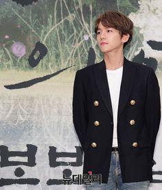 Baekhyun - 160824 'Scarlet Heart: Ryeo' press conference Credit: New Daily…