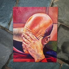 I painted the facepalm.