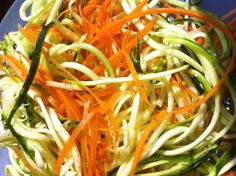 Zucchini Spaghetti Maker Good, Great, or just OK? Very lo carb and this recipe includes how to make it in advance Food Prep, Meal Prep, Something Different For Dinner, Spiral Pasta, Zucchini Spaghetti, Healthy Cooking, Olive Oil, Carrots, Vegetarian Recipes