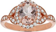 Find Rose Gold Oval Shape Morganite Diamond Engagement Ring cttw, H-I, online. Shop the latest collection of Rose Gold Oval Shape Morganite Diamond Engagement Ring cttw, H-I, from the popular stores - all in one White Topaz Rings, Blue Topaz Ring, Sterling Silver Wedding Rings, Oval Shape, Luxury Jewelry, Colored Diamonds, Diamond Engagement Rings, Women Jewelry, Rose Gold