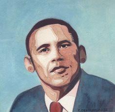 Emilie Deutchman - Barack Obama  Presidents with Boob Faces