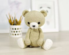 PATTERN: Classic crocheted teddy bear  4-way jointed