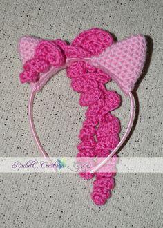 My Little Pony- Pinkie Pie Inspired Crochet Ears Headband by RachelC. Creations- http://www.facebook.com/RachelC.Creations