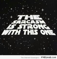 Sarcastic quotes – The Sarcasm is strong in this one   PMSLweb
