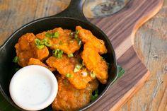 OMG. Buffalo Chicken Bites. Buffalo Chicken Bites, Delicious Dishes, Cornbread, Curry, Menu, Fresh, Ethnic Recipes, Food, Millet Bread