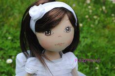 muñeca de trapo, muñeca de comunion personalizada