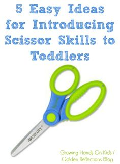 Yes, toddlers can learn how to use scissor safely and appropriately with these 5 easy ideas for introducing scissor skills for toddlers.