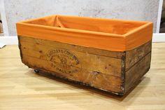 Vintage wood box on