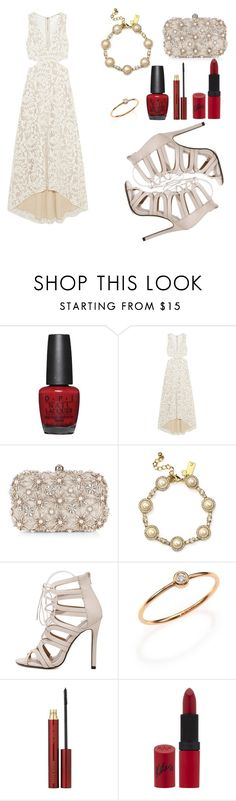 """♥"" by sarahmilad ❤ liked on Polyvore featuring OPI, Alice + Olivia, Accessorize, Kate Spade, Ginette NY, Kevyn Aucoin and Rimmel"