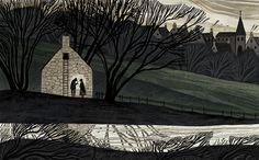 The Withered Arm - Júlia Sarda - pickledink Landscape Illustration, Children's Book Illustration, People Illustration, Claude Monet, Cassandra Calin, Art Forms, Light In The Dark, Art Inspo, Art Reference