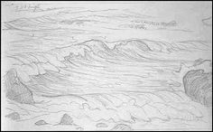 How to draw and paint waves
