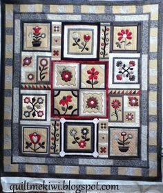 quiltmekiwi: A stitchers Garden and meet Dimples and Harry.