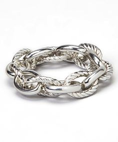 This Silver Rope Chain Bracelet by Gabrielle Jewelry is perfect! #zulilyfinds