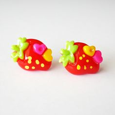 Red Strawberry Earrings