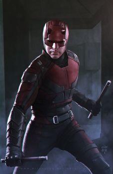 Funko Pop Daredevil-Daredevil Costume Rouge Marvel TV