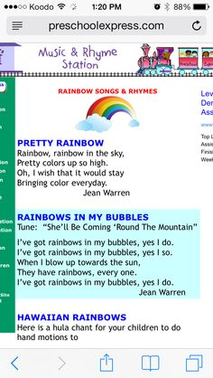 rainbow songs - All The Colors Of The Rainbow Song