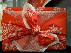 I've been wrapping gifts in my old scarves for years, now all of the sudden it's not frowned upon!