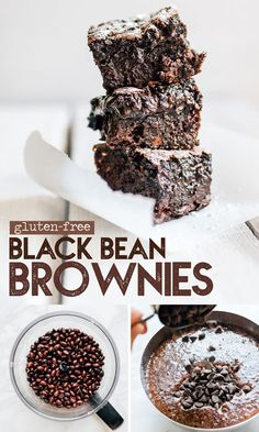 // Live Eat Learn This gluten-free Black Bean Brownies recipe is a decadent, healthy dessert (and no one will ever guess they're packed with fiber-filled black beans!) It's a flavor packed dessert idea perfect for family potlucks or weeknight treats. Köstliche Desserts, Healthy Dessert Recipes, Gluten Free Desserts, Gourmet Recipes, Delicious Desserts, Gluten Free Potluck, Crowd Recipes, Vegetarian Recipes, Cake Recipes