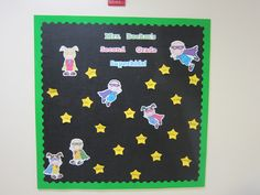 Quick and cute Welcome Back board - enlarge and print clipart, write names on stars.
