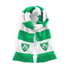 Retro Republic of Ireland 1970s Traditional  Football Scarf Embroidered Logo #OldSchoolFootball
