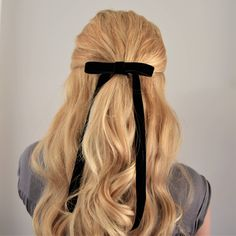 Your place to buy and sell all things handmade - Caitlin Verrinder - Scrunchies Wedding Hairstyles Half Up Half Down, Half Up Half Down Hair, Half Updo, Ribbon Hairstyle, Ribbon Hair Bows, Hair Arrange, Velvet Hair, Velvet Ribbon, Pretty Hairstyles