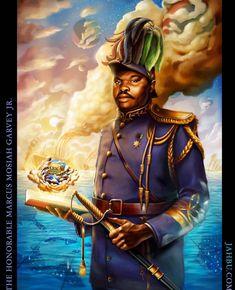 Marcus Garvey, The Orator, African American Art, Custom Framing, Fantasy Art, Canvas Prints, Statue, History, Artist