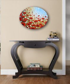 Red poppies painting palette knife original impasto by ZarasShop