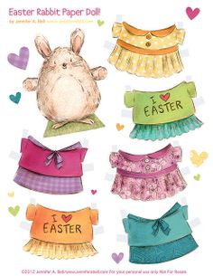 Easter paper dolls! by Jennifer A. Bell, via Flickr