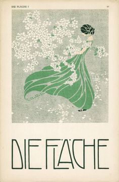 Die Fläche (The Surface), with illustration and design by Josef Hoffmann, Koloman Moser and Alfred Roller, 1903/4. Featuring art, posters, books and print products, it was published in Vienna by Felician Baron Myrbach