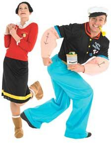Popeye And Olive Oyl Fancy Dress For Couples Couples Fancy Dress Popeye And Olive Costume Fancy Dress