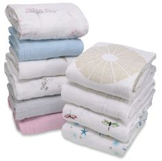 Aden & Anais crib sheets. The blankets are great. We'll see about these sheets. They're new from A