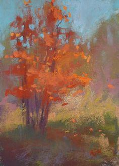 Orange Tree Plein Air 5x7 Original Pastel by Karen Margulis