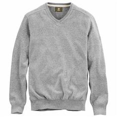 Timberland - Pull Williams River à Col V Homme - Coupe Droite - medium grey