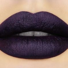 Dark Sided Pretty Poison Lipstick (Black Edition) By Sugarpill Cosmetics - Embrace your dark side in a luxuriously matte, deep plum lip. #lipcolorsdrugstore