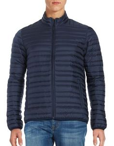 Brooks Brothers Red Fleece Down Puffer Coat Men's Navy X-Large