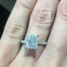 made by the gorgeous Metals In Time Jewelry Store! Come check us out and make her sparkle! Custom Cushions, Cushion Cut, Metals, Jewelry Stores, Sparkle, Engagement Rings, Bracelets, Check, How To Make