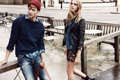 Pepe Jeans Autumn Winter Campaign with Cara Delevingne and George Alsford