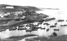 Mevagissey before 1890, with no outer harbour Mevagissey Museum