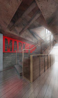 Mark - corten steel, stairs