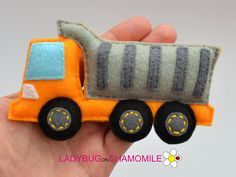 Felt HEAVY TRUCK stuffed felt Heavy truck car magnet or