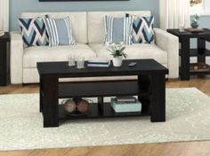 Black Modern Coffee Table Contemporary Living Room Storage Wood Furniture NEW Contemporary Coffee Table, Modern Coffee Tables, Wood Furniture, Living Room Furniture, Living Room Storage, White Zebra, Queen Comforter Sets, Bed Sheets, Couch