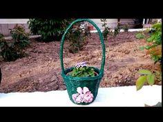 Cos din ziare pentru gradina--Newspaper basket garden