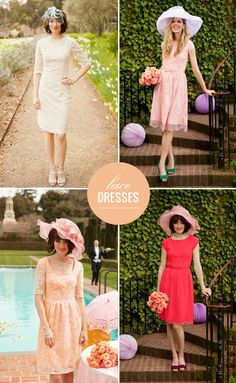 Lace bridesmaids dresses from Shabby Apple