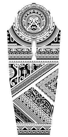 Maori Tattoo Arm, Polynesian Tattoo Sleeve, Maori Tattoo Designs, Full Sleeve Tattoos, Full Sleeves Design, Free Illustrations, Sleeve Designs, Ethnic Style, Buffalo
